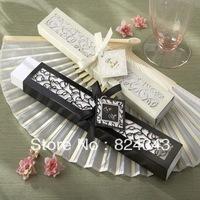 FREE SHIPPING+Wedding Favors Luxurious Silk Fan in Elegant Gift Box Bamboo Fan Wedding Fan+100pcs/lot(RWF-0021U)