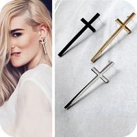 Min.order is $10 (mix order) Fashion black\silver\gold cross earrings jewelry wholesale women stud earrings