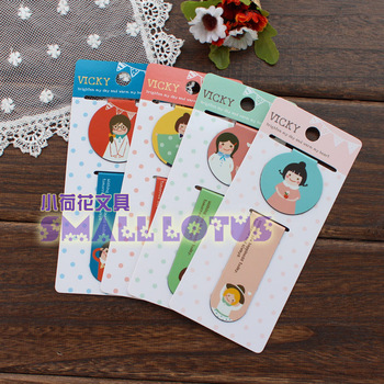 Girl magnetic bookmark clip fashion refrigerator stickers 2 4782