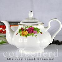 Platinum rose bone china coffee pot fashion coffee set ceramic teapot d'Angleterre coffeecakes water bottle