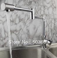 Wholesale One Handle Deck Mounted Kitchen Basin Sink Swivel Faucet Vanity Faucet Mixer Tap Crane Chrome S-189 Mixer Tap Faucet