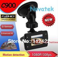 2013 Newest Full HD 1.5in Screen 1920*1080P 6 IR LED Car Vehicle CAM Video Camera C900 Recorder 30fps Russian Car DVR