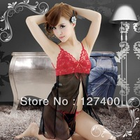 Hot Sexy Lace Lingerie Babydoll Dress Underwear Sleepwear G-string Red Black
