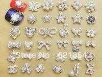 Pearl  alloy nail art decoration, DIY art nail accessories F-001~ F-021, 50 pcs per lot