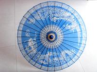 Artistic Quality *Anti Oil Paper Umbrella Blue Dragon