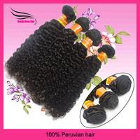 Virgin peruvian deep curly hair 4pcs lot  5A top quality mixed 12-28inch natural color DHL Free shipping