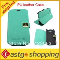 Metal buckle Dust-proof Flip PU leather Case for Samsung S3 i9300 Free Shipping