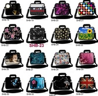 "NEW Colorful neoprene 9.7""  10"" 10.2"" /13"" 13.3"" / 15"" 15.6""  /16 inch 17"" 17.4""  Laptop Shoulder SOFT Case Bag BAG WITH Strap"
