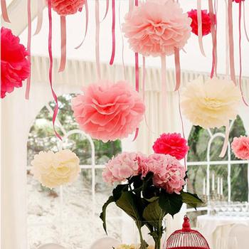 Wholesale Free Shipping Fashion Wedding Decoration Paper Flowers Ball Wedding Garland Decoration Supplies