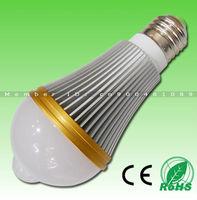 12pcs/LOT FREE DHL! 6X1W 660lm Epistar LED Chip AC85-265V Aluminum+PC 2800-7000K Indoor E27 PIR LED Sensor Light New arrival