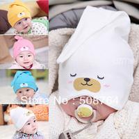 Free shipping 5pcs/lot spring and autumn newborn cap pocket baby hat baby cotton cap sleeping hat