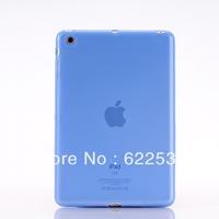 Clear  Color TPU Case  Cover Skin For Ipad MINI ,   Soft Case For Ipad MINI Free shipping