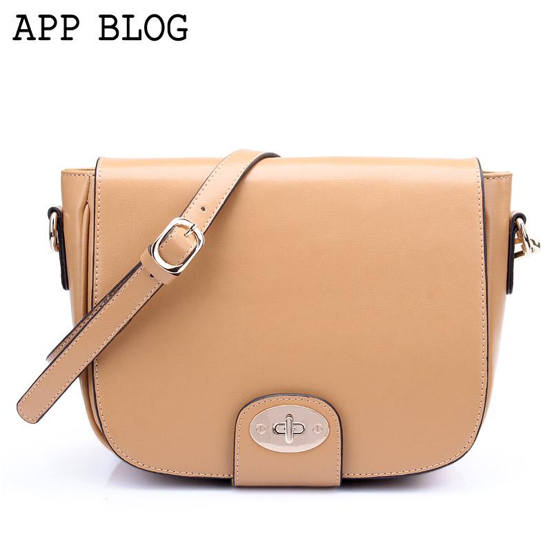App blog british style vintage messenger bag 2013 women's messenger bag shoulder bag cowhide women's handbag(China (Mainland))