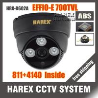 "New arrival 1/3"" Sony Effio-e 700TVLine 960H 811+4140 3pcs Array IR LEDS indoor Plastic Dome CCTV Camera. Free shipping"