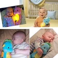 Baby Multi-fonction Music Seahorse Night Light Acoustooptical Baby Reassure Toys Soothe Glow Plush Baby Toys Unpick Wash
