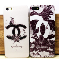 hard  case for iphone 5 design proctective cover / flower / little bird