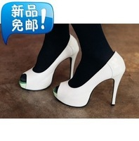 Book the shoe store fashion princess fashion sexy open toe genuine leather high-heeled shoes women's 29 - 46 plus size small