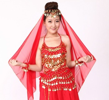 Belly dance veil scarf hair accessory indian dance scarf accessories huazhung veil accessories scarf