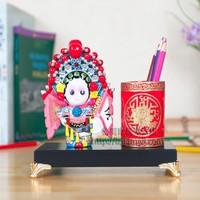 Free Shipping Chinese Minority Pen Stand Handwork Porcelain Desk Pen Holder Vintage Embossment Chinese Brush Pot
