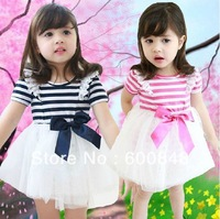 5pcs/lot girls dress one-piece fashion tutu dress wear HZ22