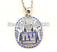 Free shipping 5pcs a lot  2011 NY Giants Super Bowl  championship pendant necklace sport jewelry(CN003)
