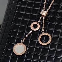 Shell necklace titanium rose gold accessories colnmnaris chain female accessories