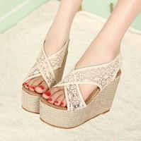 2013 vintage sandals bohemia national trend platform shoes platform high-heeled lace princess gladiator shoes single shoes