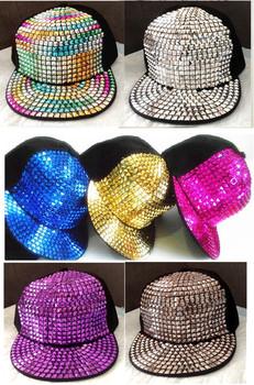 2013 Summer Autumn Rivet Punk Hiphop Cap Spikes Men Women Studded Unisex Basebal Cap Casual Cap Hat Free shipping