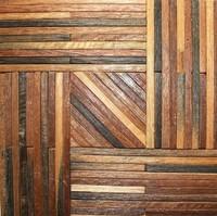 Natural wood mosaic tile NWMT038 wood mosaics kitchen backsplash tile strip wood mosaic wall pattern wood mosaic wall design