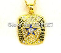 Free shipping 5pcs a lot  1992 Dallas Cowboys Super Bowl  championship pendant necklace sport jewelry(CN004)