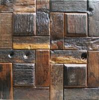 Natural wood mosaic tile NWMT042 wood mosaics kitchen backsplash tile strip wood mosaic wall pattern wood mosaic wall design