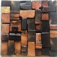 Natural wood mosaic tile NWMT045 magic pattern wood mosaics kitchen backsplash tile ancient wood mosaic wall tiles design mosaic