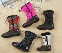 Women's Fashion water proof anti-skidding casual Zip flat  Heel winter mid calf Boots Designer Shoes Y432