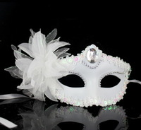 2013 Fashion HandMade Party Wedding Halloween Mask Dance Mask Costume Venetian Masquerade Lily flowers Mask Free shipping