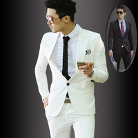 White casual suits slim suit male fashion suit formal dress