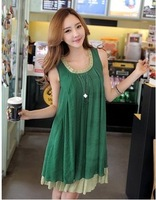 Fashion Maternity Clothing Summer Loose Tank Dress,BK2500