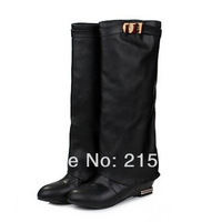 Western fashion British style straight sets foot shoes size 32-43 solid fashion sexy high boots black red brown drop shipping