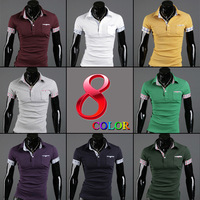2013 Summer hot-selling fashion plus size casual polo shirts men's    short-sleeve polo shirt