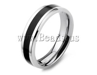 Free shipping! Stainless Steel Finger Ring,Jewelry For Men,  oril color, 6mm, Size:10, Sold By PC