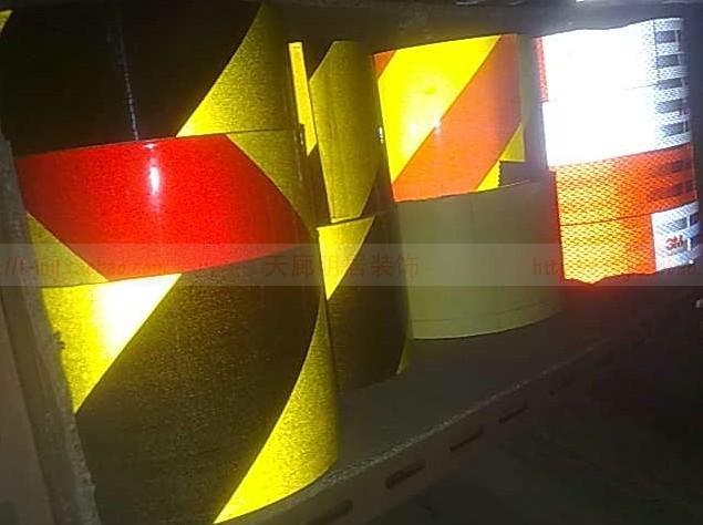 Безопасности красный и белый светоотражающие ленты самоклеющиеся для авто и этап и галерея и мотоцикл парковка предупреждение ленты высокая видимость ширина 5 см