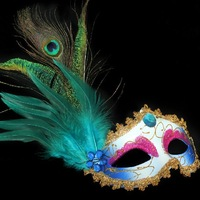 2013 Venetian Princess Mask Peacock feather Party mask Free shipping