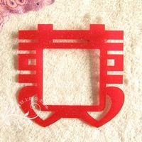Red acrylic crystal switch stickers switch cover ceremonized wall stickers double happiness married at home