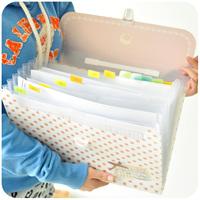 Hearts . fashion brief file folder portable file bag zipper bag small fresh