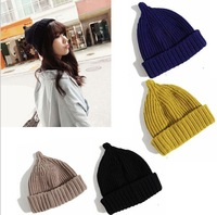 2013 Autumn and winter freeshipping mini hat Wool knitted fashion cap Women fashion accessories