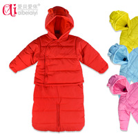 on sale Baby clothes plus velvet thickening winter thermal cotton-padded jacket sleeping bag set baby supplies clothes holds z
