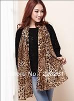 Fashion leopard chiffon long scarf