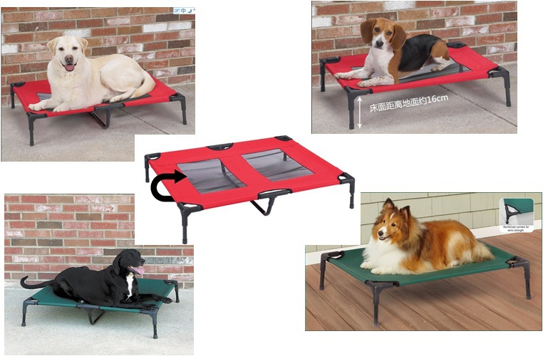 "Pet Cot - Cat Dog Outdoor Bed - Elevated Bed - 30""L x 24""W - 2 colors"
