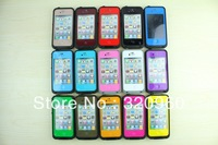 15 colors Waterproof dirtproof shockproof case for iphone 4/4S waterproof case  1pc free shipping