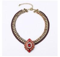 For nec  klace fashion alloy gem vintage women's necklace accessories