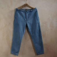 Yoho summer water wash male jeans ankle length trousers pants slim skinny pants 9 lowing harem pants male